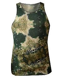 cheap -Men's Running Tank Sleeveless Fast Dry Breathability Vest/Gilet for Lycra Tight Brown Army Green Gray+White Black/White Dark Green S M L