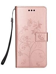 economico -Custodia Per J7 (2017) J5 (2017) A portafoglio Porta-carte di credito Con supporto Con chiusura magnetica Fantasia/disegno A calamita