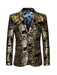 Men's Daily Plus Size Street chic Punk & Gothic Spring Fall Blazer