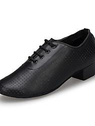cheap -Women's Modern Nappa Leather Heel Indoor Low Heel Black Customizable