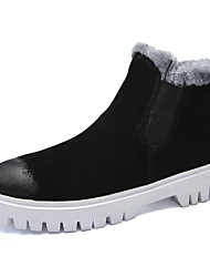 cheap -Men's Shoes Real Leather Suede Winter Fall Snow Boots Fluff Lining Boots Booties/Ankle Boots for Casual Outdoor Black Gray