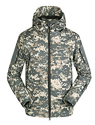 cheap -Men's Sports & Outdoor Sports Simple Vintage Casual Spring, Fall, Winter, Summer Jackets,Camouflage Round Neck Long Sleeves Regular