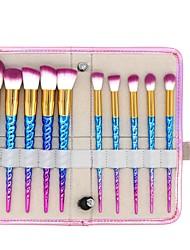 cheap -10 pcs Makeup Brush Set Synthetic Hair Full Coverage Plastic Blush