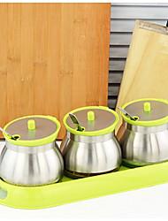 baratos -1pç Armazenamento de alimentos Aço Inoxidável Fácil Uso Organização de cozinha