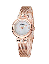 cheap -Women's Quartz Wrist Watch Japanese Water Resistant / Water Proof Alloy Band Minimalist Silver Brown Rose Gold