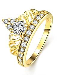 preiswerte -Damen Kristall Zirkon / Aleación Bandring - 1 Kreisform Klassisch / Modisch Gold / Rotgold Ring Für Hochzeit / Party / Halloween