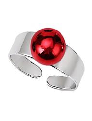 baratos -Mulheres Aço Inoxidável / Cobre / Prata Chapeada Bola Anel de banda - Simples / Casual Rosa cor de Rosa / Vermelho / Verde Anel Para