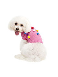 cheap -Cat Dog Sweater Dog Clothes Casual/Daily Keep Warm Polka Dots Gray Pink Costume For Pets