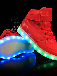 cheap -Boys' Shoes PU Fall Winter Light Up Shoes Comfort Sneakers LED For Casual Party & Evening Red Black White