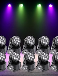 cheap -U'King 10pcs LED Stage Light / Spot Light DMX 512 Master-Slave Sound-Activated Auto 70 for Outdoor Party Stage Wedding Club Professional
