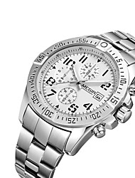 cheap -MEGIR Men's Wrist Watch Calendar / date / day / Cool Stainless Steel Band Casual / Fashion