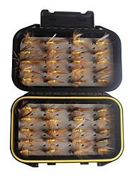 preiswerte -40 Stück Angelköder g / Unze mm Zoll, Kohlenstoffstahl Federn Jigging Seefischerei Fliegenfischen Spinnangeln Jigging Angeln andere
