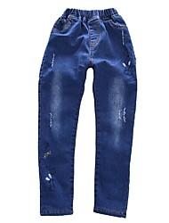 cheap -Girls' Pants, Cotton Winter Cartoon Blue