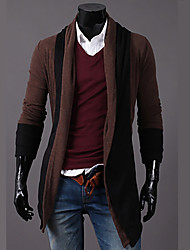 cheap -Men's Active Long Sleeves Cardigan - Color Block