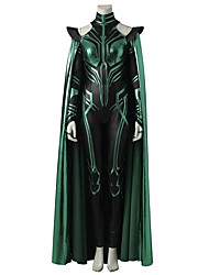 economico -Costumi da supereroi Cosplay Costumi Cosplay Costume Cosplay da film Grigio e nero Calzamaglia/Pigiama intero Mantello Halloween