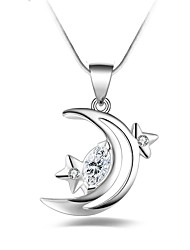 cheap -Women's Moon Shape Fashion Gift Pendant Necklace Silver Plated Pendant Necklace Other Gift Costume Jewelry