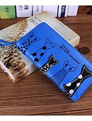 economico -Donna Sacchetti PU (Poliuretano) Pochette Cerniera per Casual Inverno Nero Beige Blu scuro Fucsia