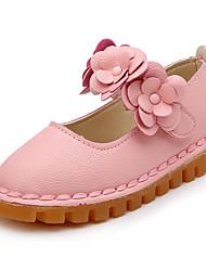 Fille Chaussures Similicuir Printemps Automne Chaussures de Demoiselle d'Honneur Fille Ballerines Pour Décontracté Blanc Rouge Rose