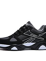 baratos -Homens sapatos Courino Inverno Outono Conforto Tênis para Casual Branco/Preto Preto/Vermelho Black / azul