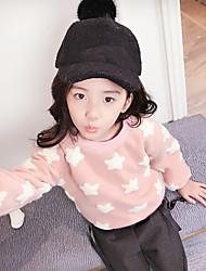 cheap -Girls' Galaxy Blouse,Cotton Winter Long Sleeve Active Black Blushing Pink Gray