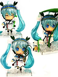 cheap -Anime Action Figures Inspired by Vocaloid Snow Miku PVC CM Model Toys Doll Toy
