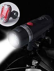 economico -Luci bici Luce frontale per bici Luce posteriore per bici LED Ciclismo Impermeabile 14500 AA 100 Lumens Batteria Ciclismo