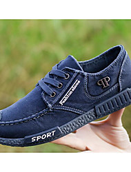 cheap -Men's Shoes Denim Spring Fall Comfort Sneakers Walking Shoes Stitching Lace for Casual Gray Blue