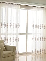 Недорогие -Современный Занавески Оттенки Прозрачный В помещении   Curtains / Вышивка / Спальня