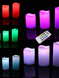 LED Lighting Toys Round Cylindrical Holiday Bulb Included Flourescent Remote Control Adults' Pieces