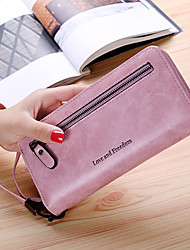 cheap -Women Bags PU Wallet Zipper for Casual Office & Career All Season Blue Black Blushing Pink Gray Purple