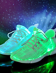 cheap -Men's Shoes Fabric Spring Summer Light Up Shoes Comfort Novelty Athletic Shoes for Casual Party & Evening White