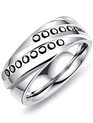 cheap -Men's Band Rings Resin Casual Korean Titanium Steel Geometric Jewelry For Other Daily