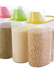 baratos -Organização de cozinha Armazenamento de alimentos Plástico Fácil Uso 1pç