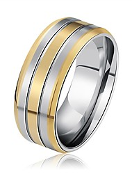 cheap -Men's Women's Band Rings Rock Cool Stainless Steel Geometric Jewelry For Wedding Bar