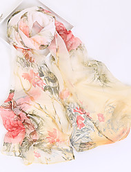 cheap -Women's Chiffon Rectangle - Floral Print