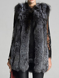 cheap -Women's Daily Wear Vintage Winter Fur Coat,Vintage Round Neck Long Sleeves Long Others