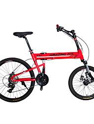 Racercykler Cykling 24 Speed 26 tommer (ca. 66cm)/700CC Shimano skivebremse Affjedringsgaffel Foldning Anti-glide Stållegering