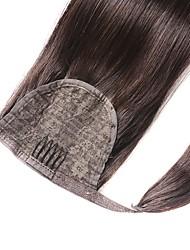 Недорогие -Конские хвостики Натуральные волосы Волосы Наращивание волос Прямой / Прямой силуэт