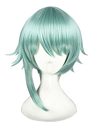 cheap -Synthetic Hair Wigs kinky straight Capless Cosplay Wig Short Green
