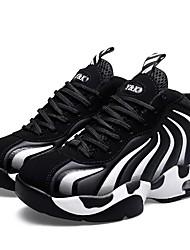 abordables -Femme Chaussures Cuir Nubuck Printemps Automne Confort Chaussures d'Athlétisme Basketball Talon Plat Bout rond Pour Athlétique Rose