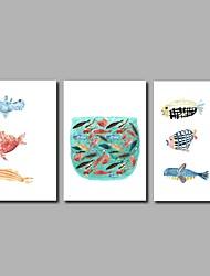 Недорогие -рыба 3-х частей современного искусства настенного искусства для украшения комнаты 20x28inchx3