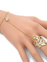 cheap -Women's Ring Bracelet - Leaf European, Rock Bracelet Gold / Silver For Party / Daily