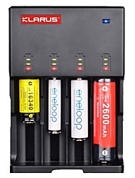 cheap -KLARUS C4 Battery Charger High Quality Light and Convenient ABS for Lithium Ion Nickel Metal Hydride Nickel Cadmium