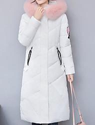 Dámské S vycpávkou Jednoduchý Běžné/Denní Jednobarevné-Kabát Polyester Dlouhý rukáv