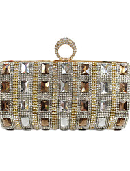 cheap -Women's Bags Glasses / PU Evening Bag Buttons / Crystals Gold / Black / Silver