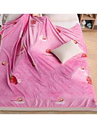Недорогие -Супер мягкий, С принтом Рисунок Хлопок / полиэфир одеяла