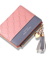 cheap -Women Bags PU Wallet Tassel for Shopping Casual All Season Black Red Blushing Pink Light Purple Light Grey