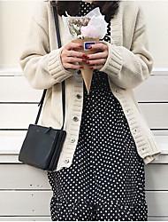 Standard Cashmere Da donna-Per uscire Casual Tinta unita A V Manica lunga Acrilico Autunno Inverno Spesso Media elasticità