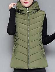 Women's Vest Coat,Casual Daily To-Go Solid-Cotton Sleeveless