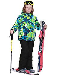 Phibee Veste & Pantalons de Ski Garçon Ski Chaud Séchage rapide Etanche Garder au chaud Pare-vent Vestimentaire Respirabilité Résistant